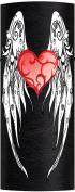 Hair Glove 10cm Heart & Wings Leather Biker Ponytail Holder 31477