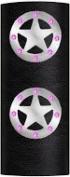 Hair Glove 10cm Texas Star with Rhinestones Biker Hair Accessory 31423