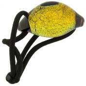 Dichroic Hair Tie: Gold