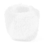 Rosallini White Elastic Strectchy Plush Hair Scrunchie for Women