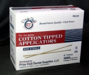Value-Pack 2,000 15cm Cotton-Tipped Applicator / Cotton swab / Q-Tips