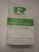 Royal Mint Individual Cello Wrapped Toothpicks, 1000 Ct