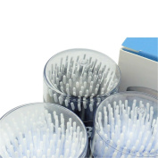 Easyinsmile 400 Pcs Dental Disposable Micro Applicator Brush Bendable Cylinder Black and White Dia. 1.2 MM