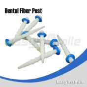 Easyinsmile New Dental Fibre Post Set 10pcs/box for Single Size Screw Type Refilled Package Blue