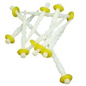 Easyinsmile New Dental Fibre Post Set 10pcs/box for Single Size Screw Type Refilled Package Yellow