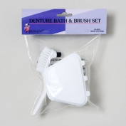 Denture Bath and Brush Set