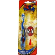Spiderman Toothbrush Travel Kit - 2 Pc