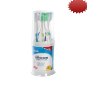 Assured Family 6-pack Toothbrushes with Drinking Cup & Holder