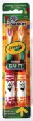 GUM Crayola Pip-Squeaks (2 toothbrush value pack) 232 - Colours may vary