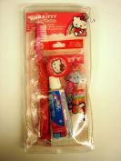 Hello Kitty Dental Set - Toothbrush, Floss and Toothpaste - Hello Kitty Travel Kit