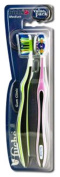 Fuchs Child/ Adult Toothbrushes Gum Clinic Toothbrush Medium Pair Pack, Medium Pair Pack 2 COUNT