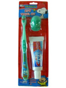 Green Snoopy Travel Toothbrush - Kids Travel Toothbrush Kit