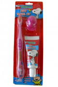 Purple Snoopy Travel Toothbrush - Kids Travel Toothbrush Kit