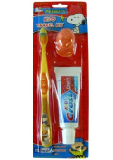 Yellow Snoopy Travel Toothbrush - Kids Travel Toothbrush Kit