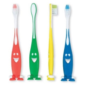Youth Smiley Suction Toothbrushes - 48 per pack