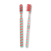 Youth Candy Cane Scatter Print Toothbrushes - 48 per pack