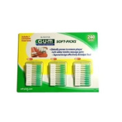 Sunstar GUM Soft-picks with Convenient Travel Cases, 3 Packs , 240 Picks Each