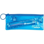 Oral Choice 3524-B Travel Pouch with Adult Toothbrush and Floss 12 pcs