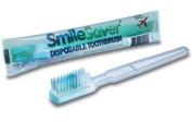 SmileSaver Pre-Pasted Disposable Toothbrushes Case of 144 Individually Wrapped
