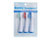 GSI Quality Pack Of 3 Replacement Toothbrush Heads For GSI Electric Sonic Power Toothbrushes, GRST2030, GRST2031 And GRST2050 Series