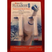 Rotadent Zila Plus Replacement Brush Heads Long Tip