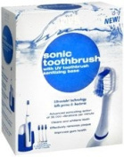 CVS Sonic Toothbrush 421C with UV Sanitising Base and 3 Brush Heads / Open Box