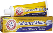 Arm & Hammer Advance White Toothpaste, Fluoride, Anticavity, Extreme Whitening, Baking Soda & Peroxide, Frosted Mint Flavour, 130ml