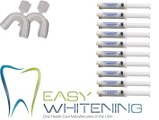 Teeth Whitening Kit 44% with 10 syringes of gel= 10-3cc 44% syringes and 2- Trays