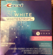 CREST WHITE STRIPS 3D GENTLE 28EA