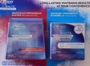 Crest 3D White Whitestrips w/ Advanced Seal Professional Dental Whitening Kit (28 STRIPS) & Crest 3D White 2-Hour Express Whitestrips Dental Whitening Kit (2 TREATMENTS) - Bundle 2PACK