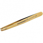 Tweezerman Studio Collection Ultra Precision Series Titanium Nitride Coated Slant, Gold
