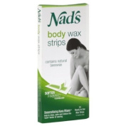 Nad's Body Wax Strips for Normal Skin, 24 Ct
