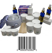 Sugaring Start up Big Kit , 1 Sugar Wax Warmer + 6 Jars of 650ml Each Standard Sugaring Hair Removal 100% Natural Paste (Standard Sugaring to Use with Hands or Spatula or Strips) + 3 Jars of 350ml Each of Soft Sugaring (To Use with Strips) + 1 Jar 12 O ..