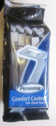 Personna Men's Disposable Comfort Coated Twin Blade Razors 10 Razors Per Pack with Lubricating Strip