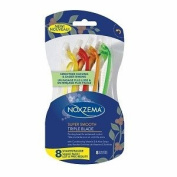 Noxzema Super Smooth Triple-Blade Disposable Shavers, 8 Count