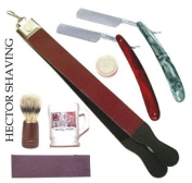 7 Pc Straight Razor Strop Soap Stone Mug Bursh Zp-038 Shaveing Set