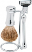 Stylish Chrome-plated Shaving Set by ERBE, Solingen Germany