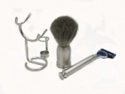 Luxury Shave Set all silver made in Italy BB59