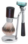 Best Badger Shaving Set with Wenge Wood Handles by ERBE, Solingen