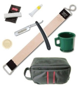Dovo Straight Razor Paste Rubber Mug Jemico Leather Strop 46cm Kit