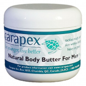 Carapex Natural Body Butter for Men, Jojoba, Beeswax Deep Moisturiser, Unscented, 120ml
