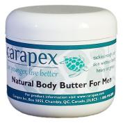 Carapex Natural Body Butter for Men, Jojoba, Beeswax Deep Moisturiser, Unscented, 120ml