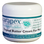 Carapex Tropical Butter Cream for Men, Natural Cocoa and Shea Butter, Unscented, 120ml