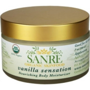 SanRe Organic Skinfood - Vanilla Sensation - 100% USDA Organic Nourishing Body Moisturiser For All Skin Types - No SPF