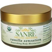 SanRe Organic Skinfood - Vanilla Sensation - 100% USDA Organic Nourishing Body Moisturiser For All Skin Types - No SPF