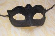 Venetian Black Masquerade Carnival Costume Mask