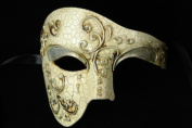 Venetian Half Face Mask Masquerade Mardi Gras 'Phantom of the Opera' Vintage Design