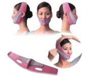 Anti Wrinkle Half Face Slimming Cheek Mask Lift V Face Line Slim up Belt Strap Pink