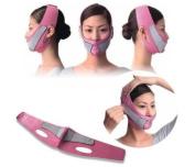 Anti Wrinkle Half Face Slimming Cheek Mask Lift V Face Line Slim up Belt Strap Pink