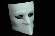 NEW Laser Cut Full Facial Cover Gladiator Design Halloween Mask - White